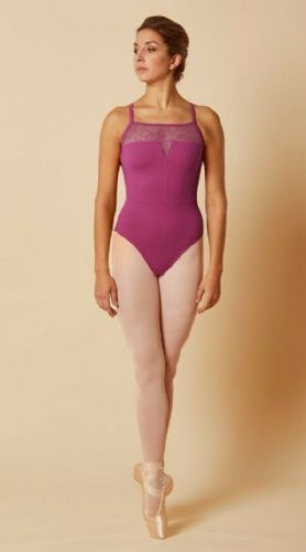Mirella by Bloch Ladies Dance Open Back Lace Camisole Leotard M2169 Tulip Pink